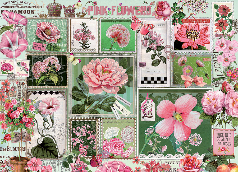 Pink Flowers Flowers Jigsaw Puzzle