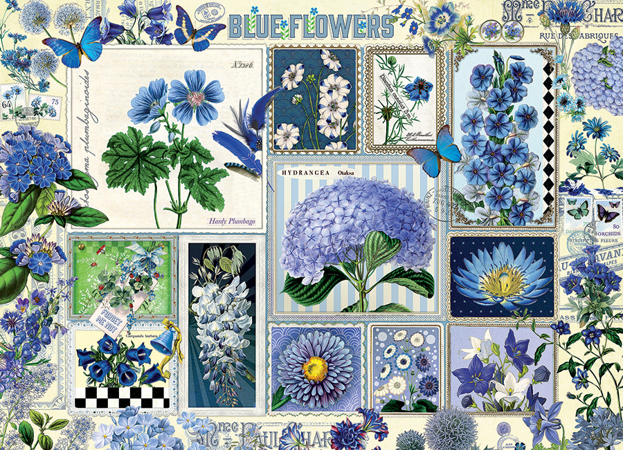 Blue Flowers - Scratch and Dent Flowers Jigsaw Puzzle