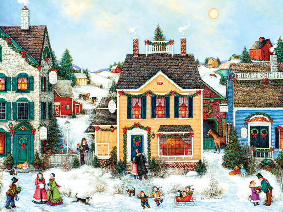 Christmas Town Christmas Jigsaw Puzzle