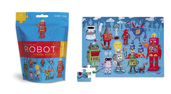 Travel Pouch Robot Cartoons Jigsaw Puzzle