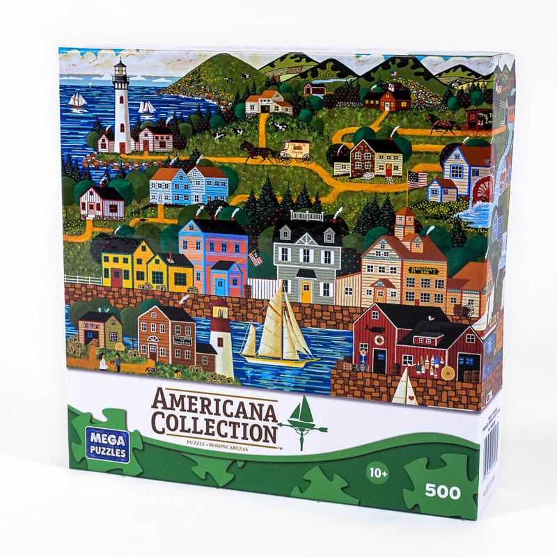 Americana Collection - Rockport Beach Jigsaw Puzzle