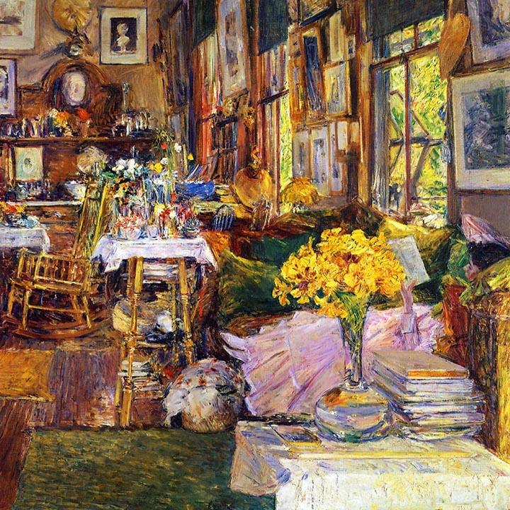 The Room of Flowers by Childe Hassam Fine Art