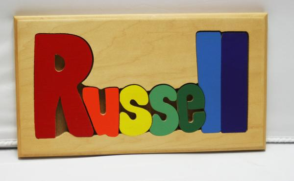 Russell Wooden Name Puzzle