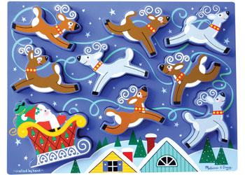 Santa's Sleigh Chunky Puzzle Christmas Chunky Puzzle