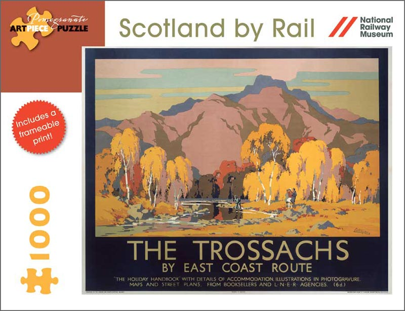 Scotland by Rail: The Trossachs Mountains Jigsaw Puzzle