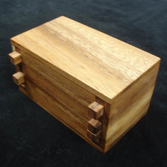 Secret Lock Box Wooden Brain Teaser