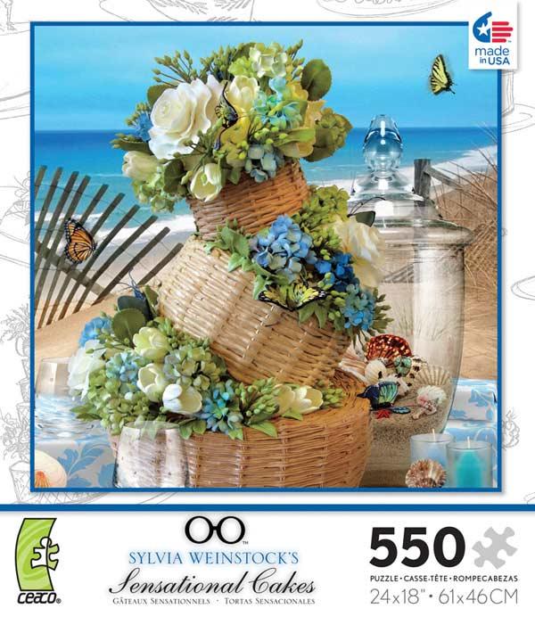 Sensational Cakes - Blue Flowers Jigsaw Puzzle