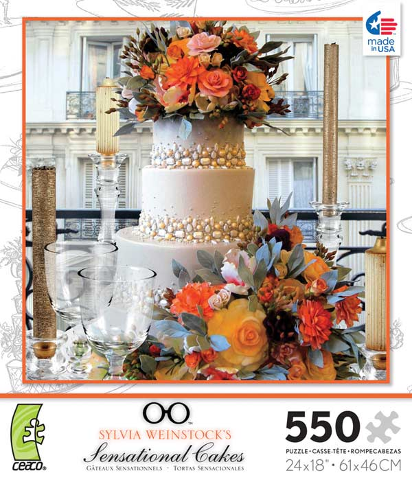 Sensational Cakes - Orange Flowers Jigsaw Puzzle