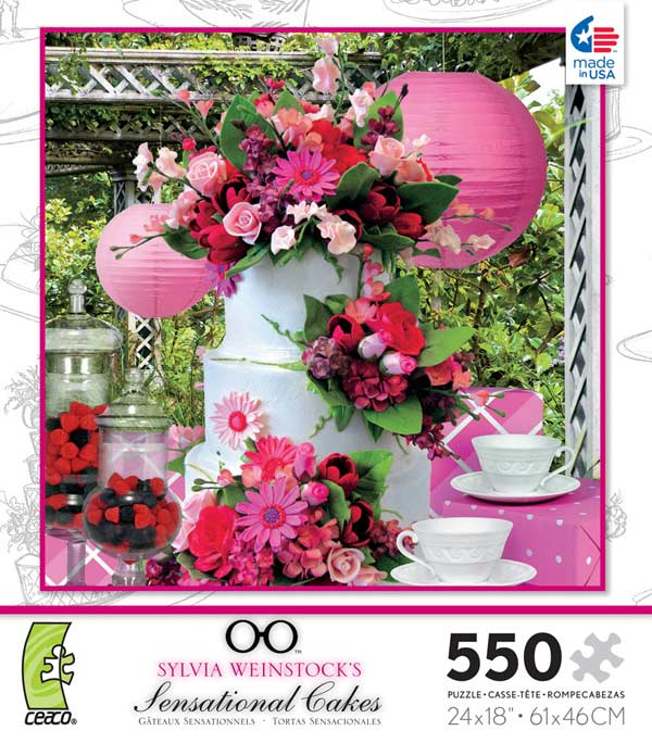Sensational Cakes - Pink Flowers Jigsaw Puzzle