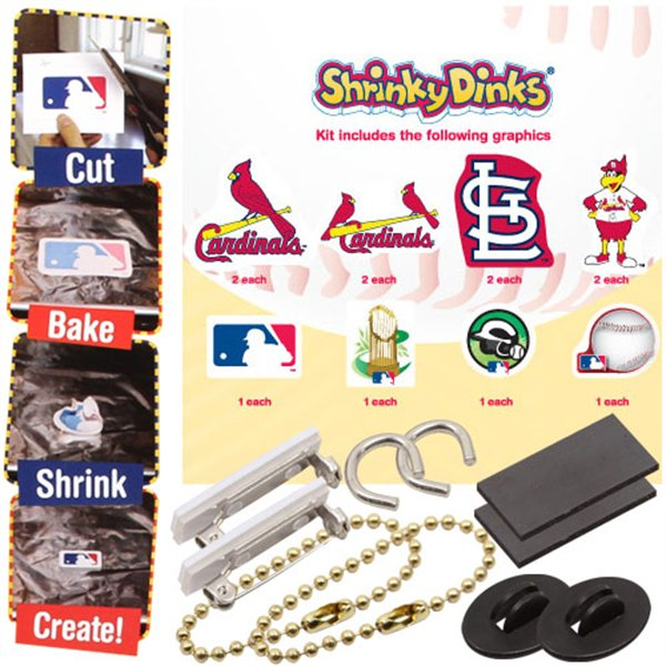 MLB St. Louis Cardinals Shrinky Dinks St. Louis Cardinals Arts and Crafts