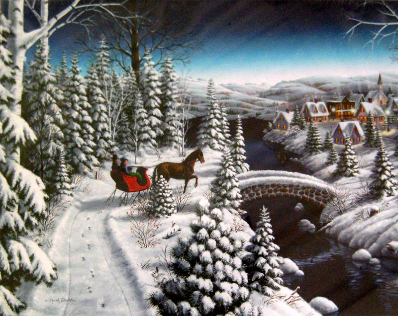 Sleigh Ride Bridges Jigsaw Puzzle
