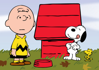 Charlie and Snoopy Cartoons Jigsaw Puzzle