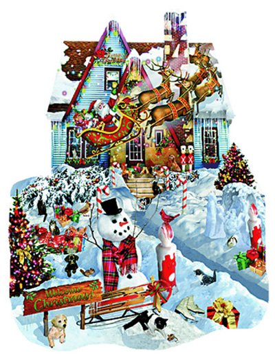 Christmas At Our House Christmas Jigsaw Puzzle