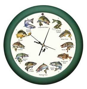 Splashing Gamefish Clock Wildlife