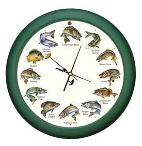 "Splashing Gamefish Clock 8"" Wildlife Novelty"