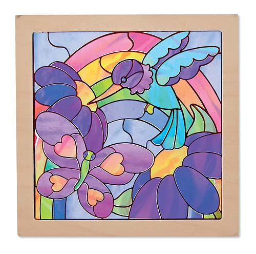 Peel & Press Sticker By Number - Stained Glass Flowers Activity Books and Stickers