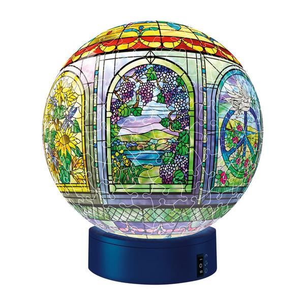 Puzzleball - Stained Glass with Light Stand (270pc) Graphics Jigsaw Puzzle
