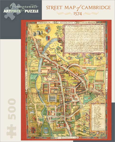Street Map of Cambridge 1574 Travel Jigsaw Puzzle