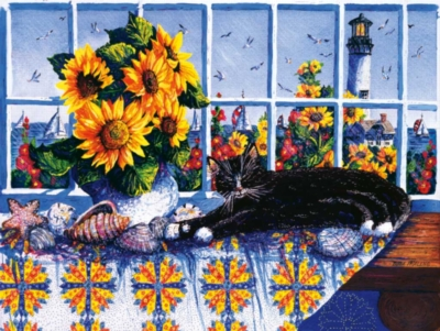 Summer Beach House Quilting & Crafts Jigsaw Puzzle