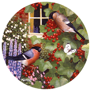 Summer Berries by Barbara Mitchell Birds Jigsaw Puzzle