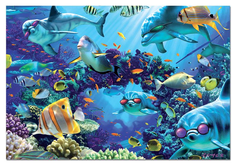 Sunlit Sea Marine Life Jigsaw Puzzle