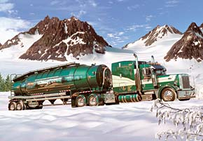 Tank Truck in the Winter Vehicles Jigsaw Puzzle