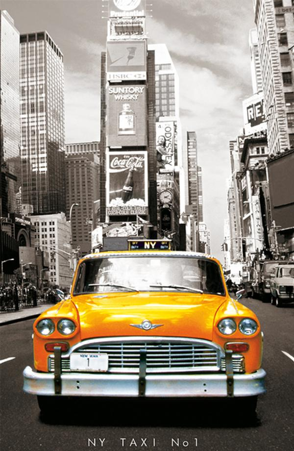 Taxi No. 1, New York - Miniature Cities Jigsaw Puzzle