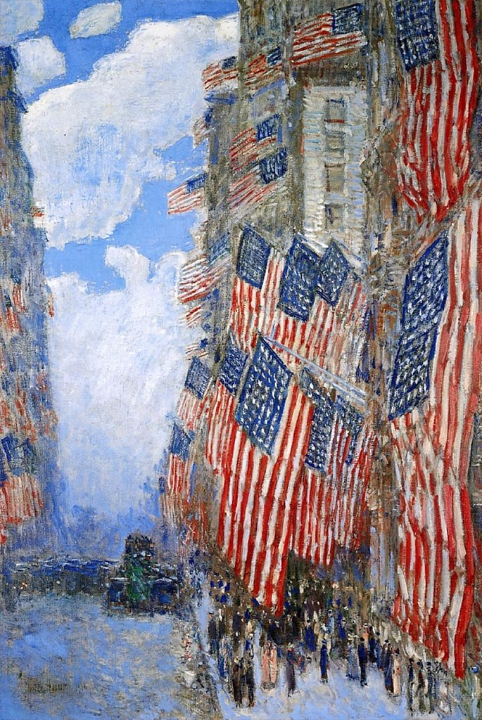 The Fourth of July by Childe Hassam Fine Art