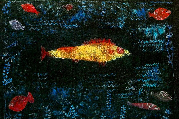 The Golden Fish by Paul Klee Fine Art