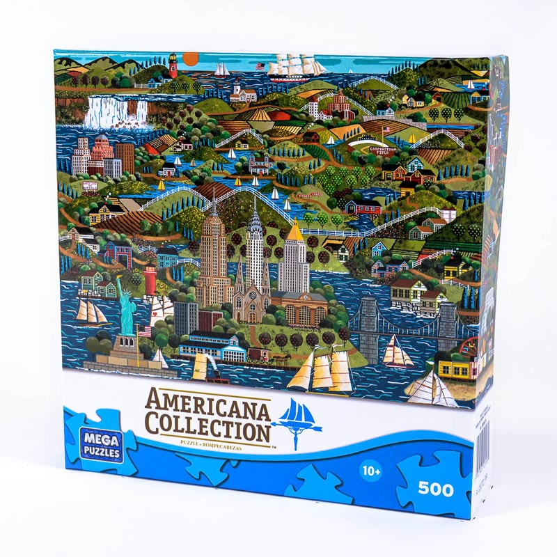 Americana Collection - The Empire State Americana Jigsaw Puzzle