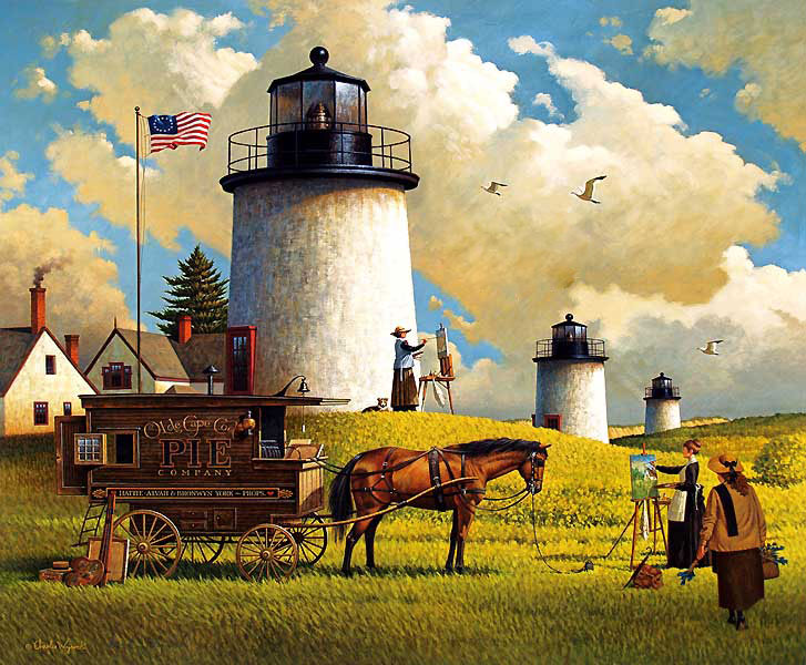 Three Sisters Of Nauset 1880 Jigsaw Puzzle