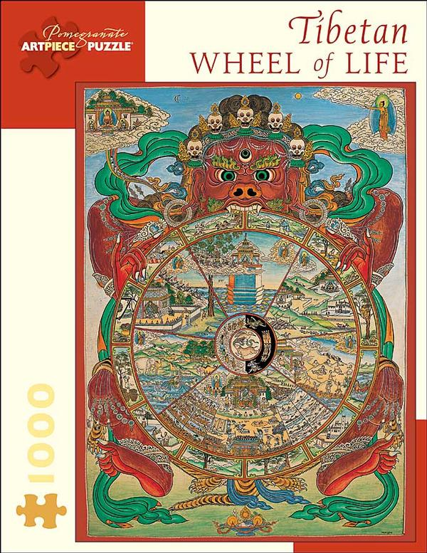 Tibetan Wheel of Life Asian Art Jigsaw Puzzle
