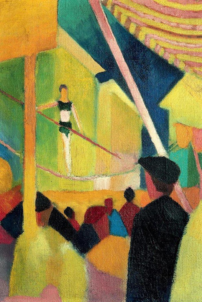 Tightrope Walker by August Macke Fine Art
