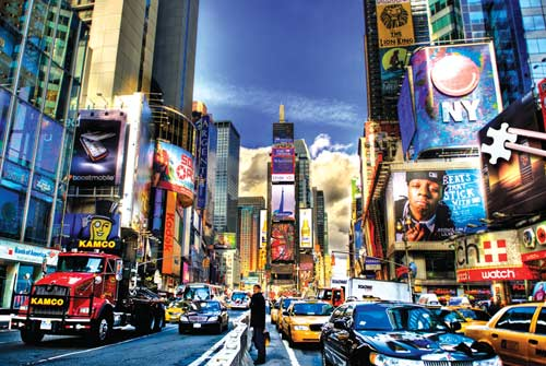 Times Square (Mini) Travel Jigsaw Puzzle