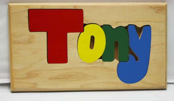 Tony Wooden Name Puzzle