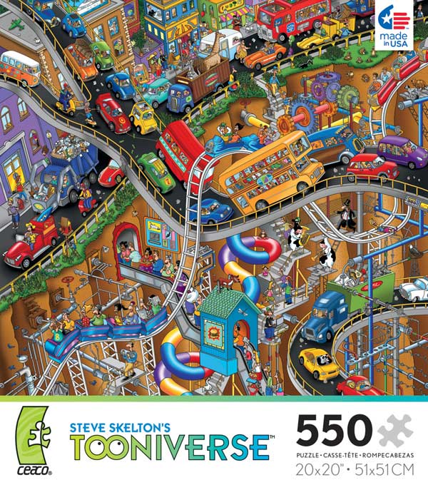 Tooniverse - Moving Parts Cartoons Jigsaw Puzzle