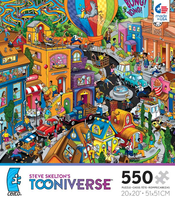 Tooniverse - World in a Hurry Cartoons Jigsaw Puzzle
