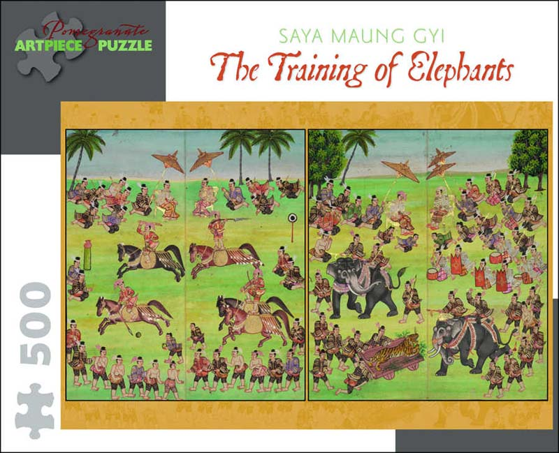 Saya Maung Gyi: The Training of Elephants Asian Art Jigsaw Puzzle