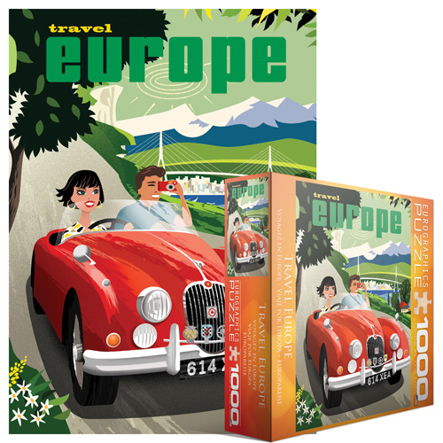Travel Europe Nostalgic / Retro Jigsaw Puzzle