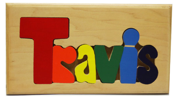 Travis Wooden Name Puzzle