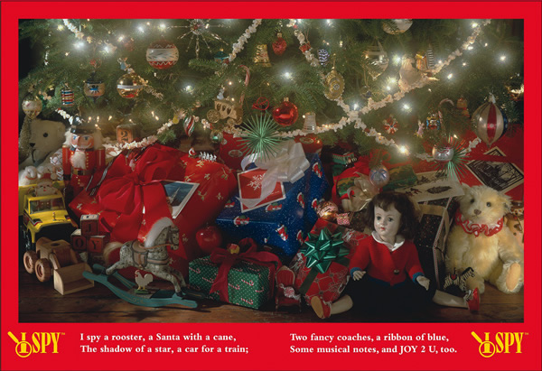 I Spy Holiday Under The Tree Hidden Images