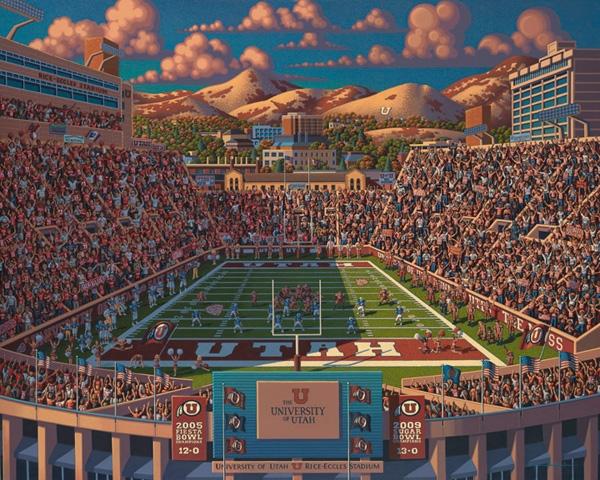 Utah Football Sports Jigsaw Puzzle