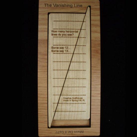 Vanishing Line Math Illusion Puzzle