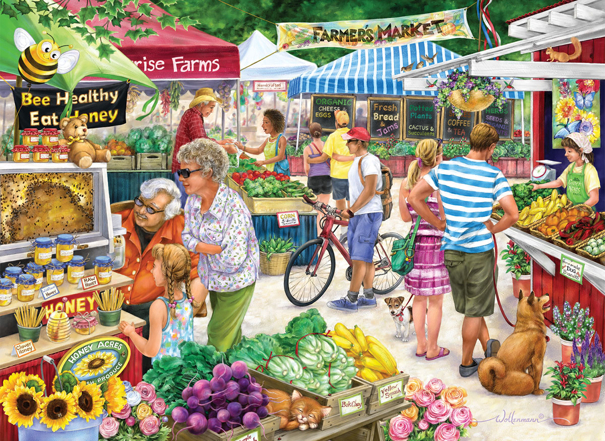 Farmer's Market - Scratch and Dent Farm Jigsaw Puzzle