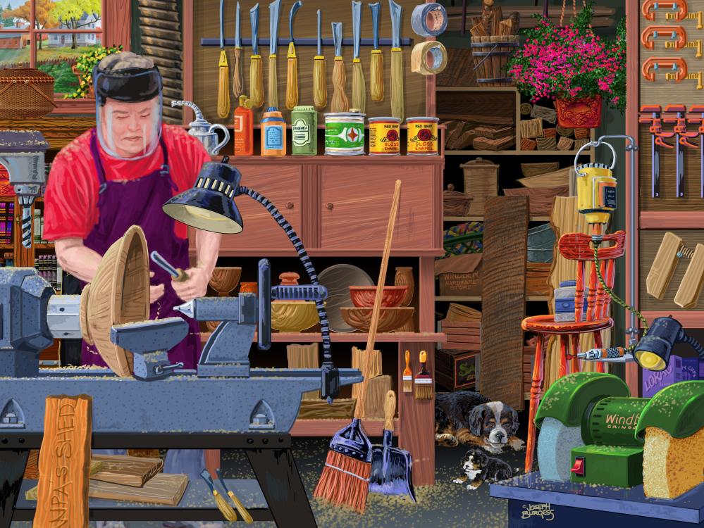 Workshop Buddies Nostalgic / Retro Jigsaw Puzzle