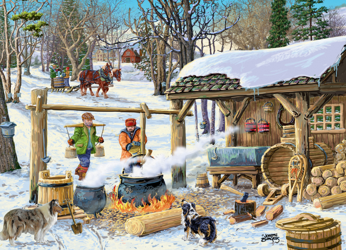 Maple Syrup Time Winter Jigsaw Puzzle