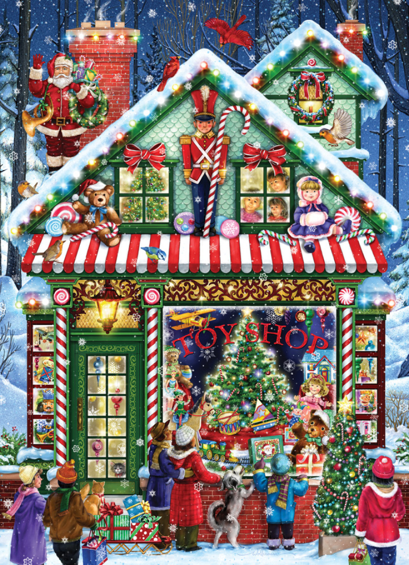 Toy Shop Christmas Jigsaw Puzzle