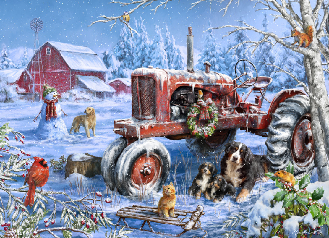 Christmas on the Farm Christmas Jigsaw Puzzle