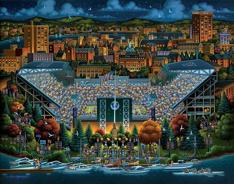 Washington Huskies Sports Jigsaw Puzzle
