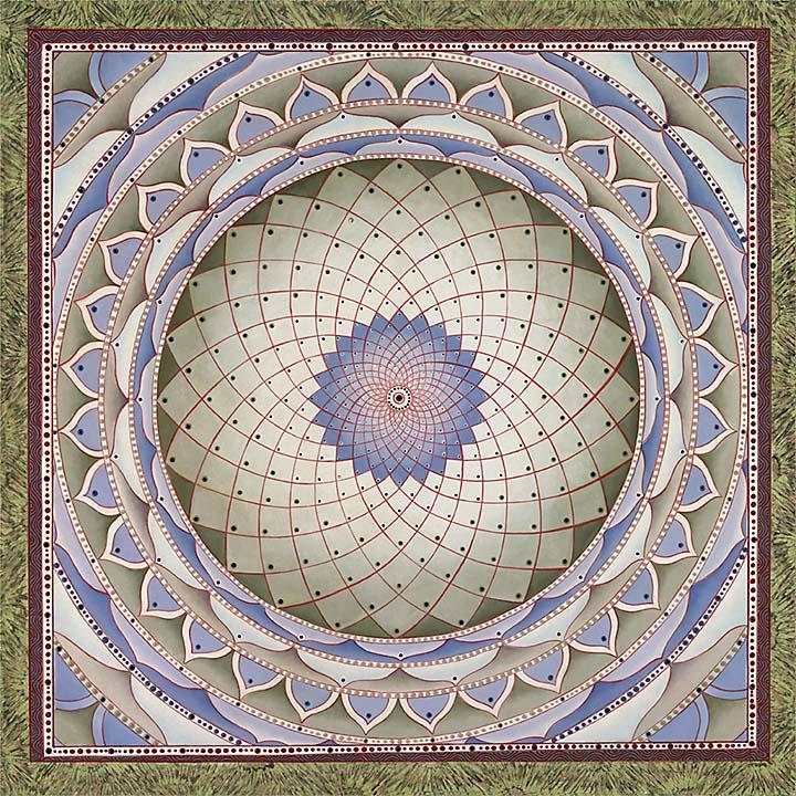 White Mendala by Paul Heussenstamm Fine Art